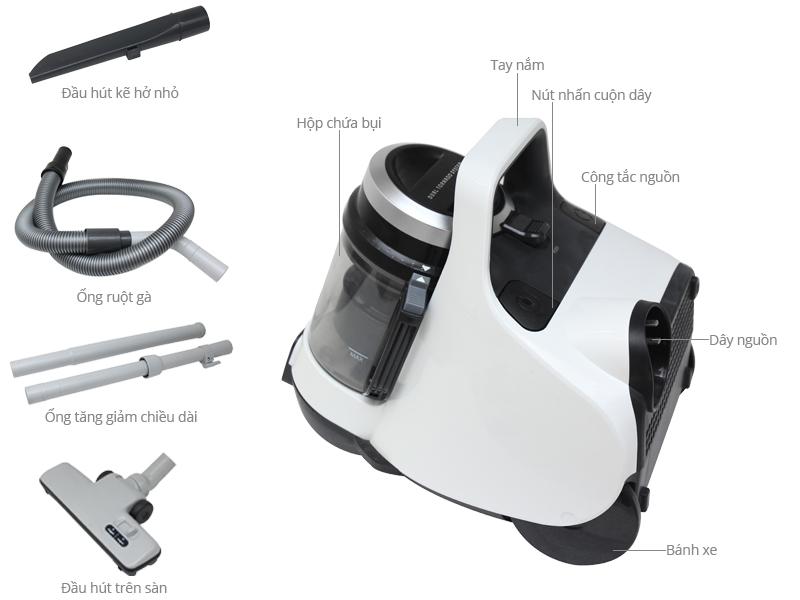 Trợ lý đắc lực cho các bà nội trợ : Chiếc máy hút bụi gia đình Toshiba